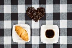 Koffiehart Stock Afbeelding