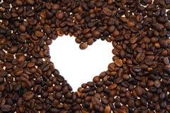 Koffiehart royalty-vrije stock afbeeldingen
