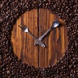 Koffiehorloges Royalty-vrije Stock Foto