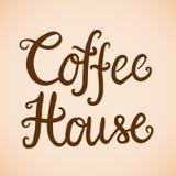 Koffiehuis logotype Stock Foto's
