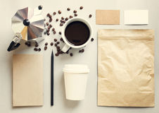 Koffieidentiteit het brandmerken modelreeks Royalty-vrije Stock Afbeelding