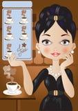 Koffiekaart Stock Foto