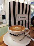 Koffiekoffie stock foto's