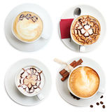Koffiekop, cappuccinoreeks Stock Afbeelding