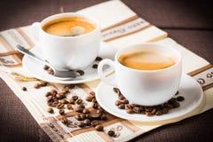 Koffiekop en bonen Royalty-vrije Stock Afbeeldingen