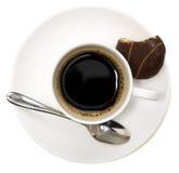 Koffiekop en koekje Royalty-vrije Stock Foto's