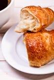 Koffiekop met een croissant Royalty-vrije Stock Foto