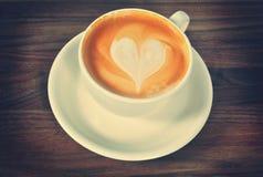 Koffiekop met Hart, Gestemd Beeld Stock Afbeelding