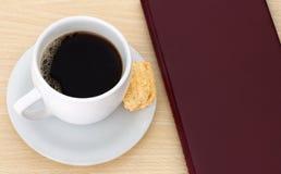 Koffiekop met leeg menu Stock Afbeelding