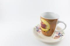 Koffiekop op isolate achtergrond Stock Foto's