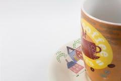 Koffiekop op isolate achtergrond Stock Afbeelding