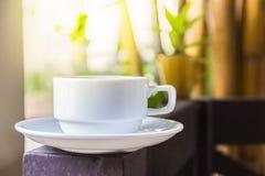 Koffiekop openlucht Royalty-vrije Stock Foto's