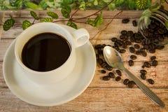 Koffiekop in tuin Stock Afbeeldingen