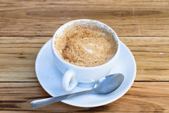 Koffiekop van cappuccino Royalty-vrije Stock Fotografie
