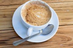 Koffiekop van cappuccino Stock Foto