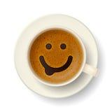 Koffiekop voor goede stemming Stock Afbeeldingen