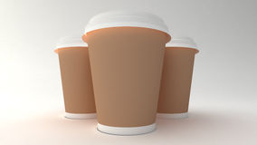 Koffiekoppen. Royalty-vrije Stock Fotografie