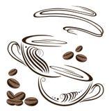 Koffiekoppen royalty-vrije illustratie