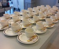 Koffiekoppen voor Koffiepauze Stock Fotografie