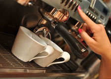 Koffiemachine Royalty-vrije Stock Foto
