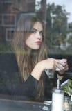 Koffiemeisje Royalty-vrije Stock Foto