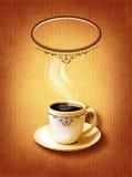 Koffiemenu voor restaurant, koffie, bar op canvaskunst backround Royalty-vrije Stock Fotografie