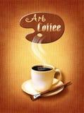 Koffiemenu voor restaurant, koffie, bar op canvaskunst backround Royalty-vrije Stock Foto