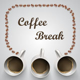 Koffiemok met bericht Royalty-vrije Stock Fotografie