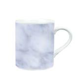 koffiemok met marmeren patroontextuur gift en herinnering met c Royalty-vrije Stock Fotografie