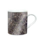 koffiemok met marmeren patroontextuur gift en herinnering met c Royalty-vrije Stock Foto