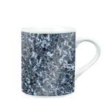 koffiemok met marmeren patroontextuur gift en herinnering met c Royalty-vrije Stock Foto's