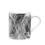 koffiemok met marmeren patroontextuur gift en herinnering met c Stock Afbeeldingen