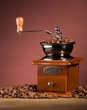 Koffiemolen aan boord stock fotografie