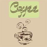 Koffieontwerpen Stock Afbeelding