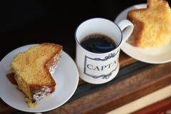 Koffiepauze! Royalty-vrije Stock Foto's