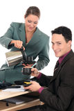 Koffiepauze bedrijfsbureau Royalty-vrije Stock Afbeelding