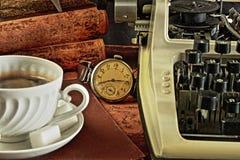 Koffiepauze in de retro stijl Royalty-vrije Stock Afbeeldingen