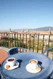 Koffiepauze in Florence stock fotografie