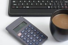 Koffiepauze in het bureau stock fotografie