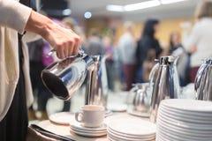 Koffiepauze op commerciële vergadering Royalty-vrije Stock Foto