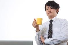 Koffiepauze van de zakenman Stock Foto's