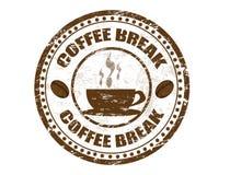 Koffiepauzezegel Stock Foto's