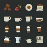 Koffiepictogram Stock Foto