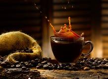 Koffieplonsen Royalty-vrije Stock Fotografie
