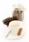 Koffieportret op wit Stock Afbeelding
