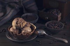 Koffieroomijs stock fotografie