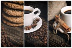 Koffiesamenstelling met koekjes Stock Afbeelding