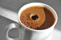 Koffieschuim met bel Royalty-vrije Stock Foto's