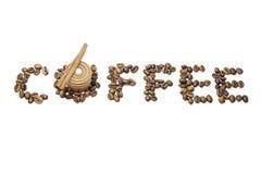 Koffietekst Royalty-vrije Stock Foto's