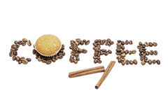 Koffietekst Royalty-vrije Stock Foto